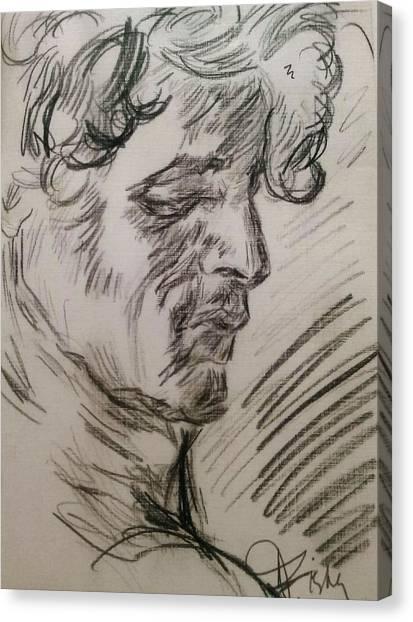 Study Of Richard Canvas Print