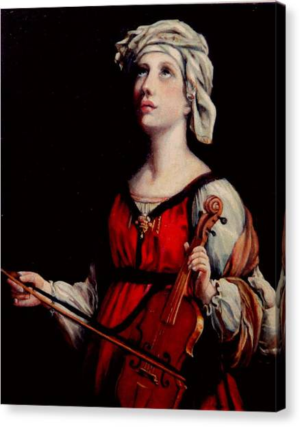 Study Of St. Cecelia Canvas Print