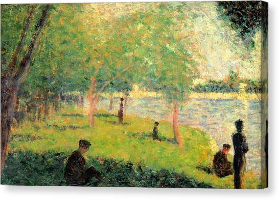 The Metropolitan Museum Of Art Canvas Print - Study On La Grande Jatte by Georges Seurat