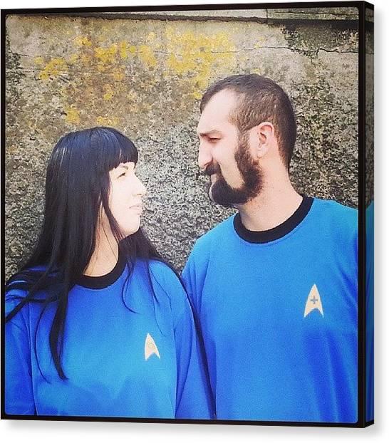 Spock Canvas Print - Stupide Orecchie A Punta! ##mccoy by Daniela Barisone
