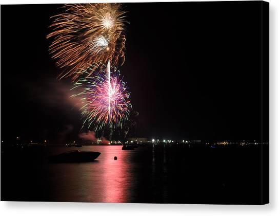 Sturgeon Bay Fireworks Canvas Print