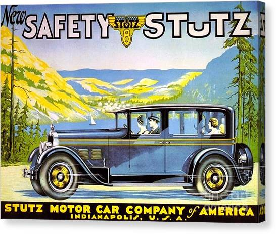 Stutz Motor Car Poster Canvas Print by Roberto Prusso