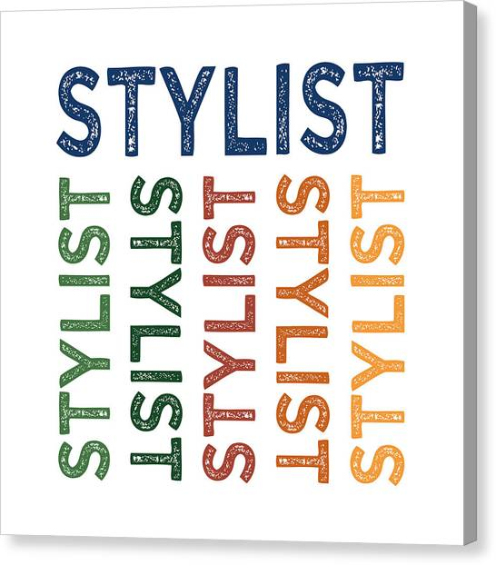 Stylist Cute Colorful Canvas Print by Flo Karp