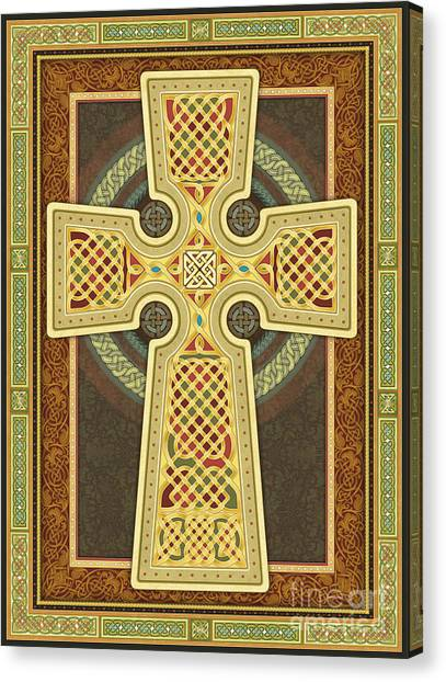 Stylized Celtic Cross Canvas Print