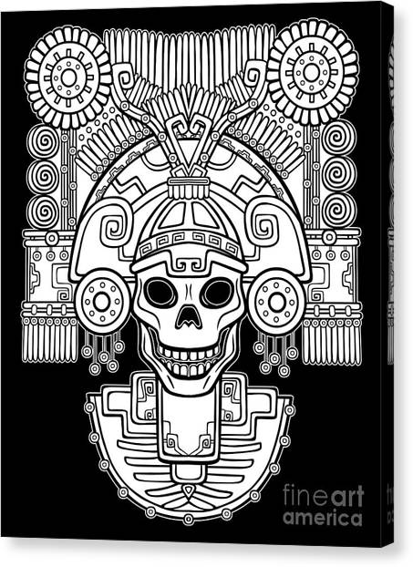 Star Trek Canvas Print - Stylized Skull. Pagan God Of Death by Zvereva Yana