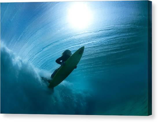 Surfboard Canvas Print - Sub Stellar by Sean Davey