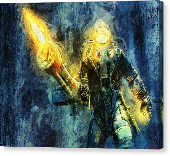 Bioshock Canvas Print - Subject Delta  by Joe Misrasi