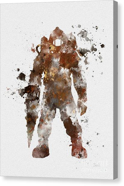 Playstation Canvas Print - Subject Delta by Rebecca Jenkins