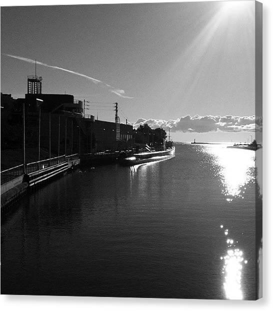 Submarine Canvas Print - Submarine  In The Harbor by Erin Britton