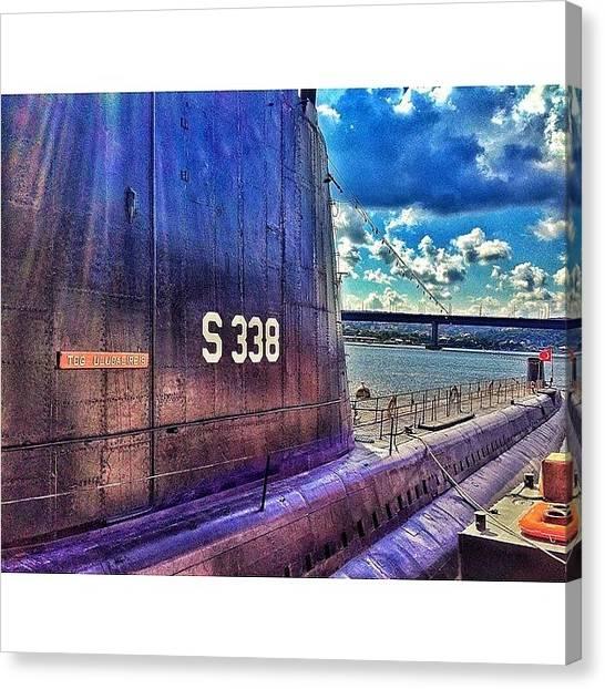 Submarine Canvas Print - #submarine #navy #naplavu by Marianna Garmash