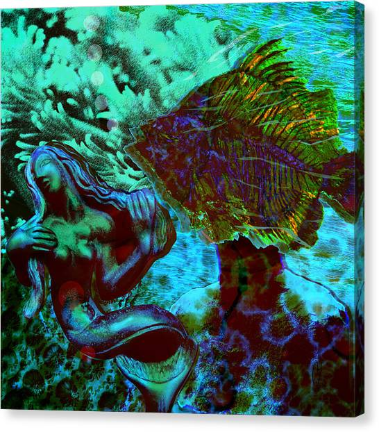 Canvas Print - Submerged Courtship by Maria Jesus Hernandez