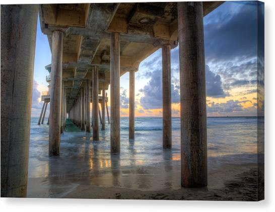 Subtle Pier Sunset Canvas Print