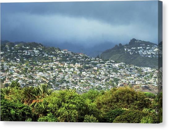 City Landscape Canvas Print - Suburb Of Honolulu by Babak Tafreshi