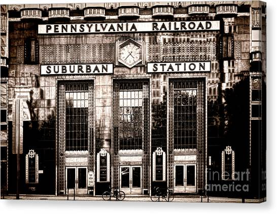 Philadelphia Phillies Canvas Print - Suburban Station by Olivier Le Queinec
