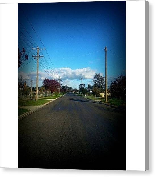 Ashes Canvas Print - Suburban Street  by Naomi Burgess