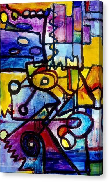 Suburbias Daily Beat Canvas Print