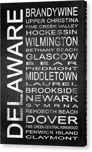 Delaware Valley Canvas Print - Subway Delaware State 1 by Melissa Smith