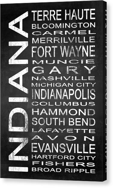 Evansville Canvas Print - Subway Indiana State 1 by Melissa Smith
