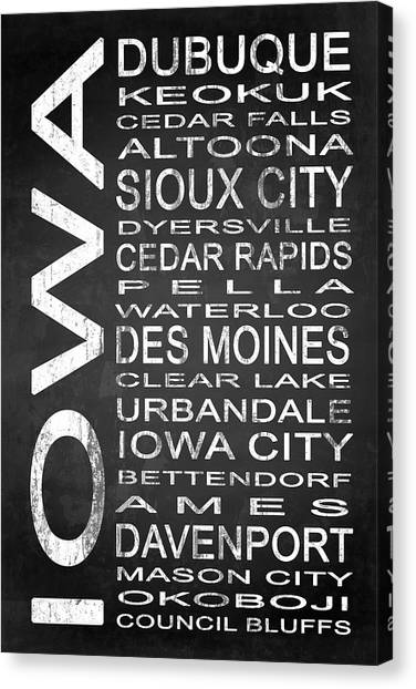Words Canvas Print - Subway Iowa State 1 by Melissa Smith