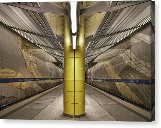 Subway Canvas Print - Subway Munich by Renate Reichert