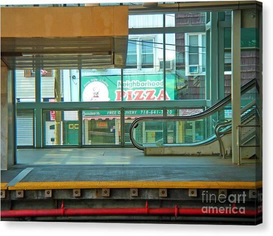 Subway Pizza Canvas Print
