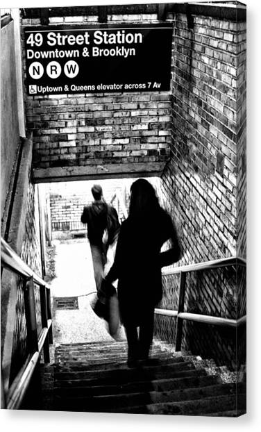 Subway Shadows Canvas Print