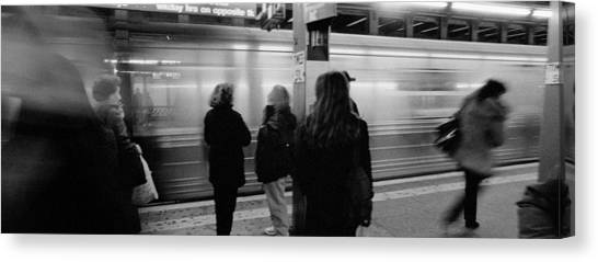 Accelerate Canvas Print - Subway, Station, Nyc, New York City by Panoramic Images