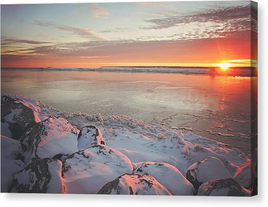 Sunrise Canvas Print - Subzero Sunrise by Carrie Ann Grippo-Pike