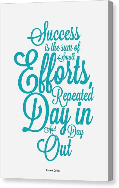 Graduation Canvas Print - Success Inspirational Quotes Poster by Lab No 4 - The Quotography Department