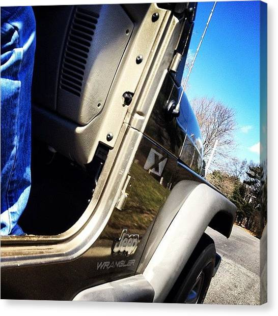 Jeep Canvas Print - Such A Nice Day #wrangler #spring by Tom Thibeault
