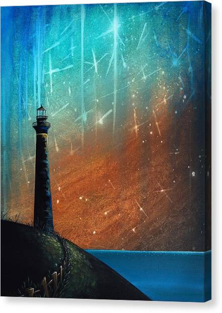 Lighthouses Canvas Print - Such A Night As This by Cindy Thornton