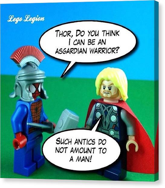 The Legion Canvas Print - Such Antics Do Not Amount To A by Lego Legion