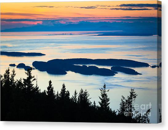 Orcas Canvas Print - Sucia Island by Inge Johnsson