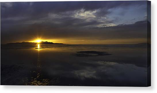 Salt Canvas Print - Sudden Glow by Chad Dutson