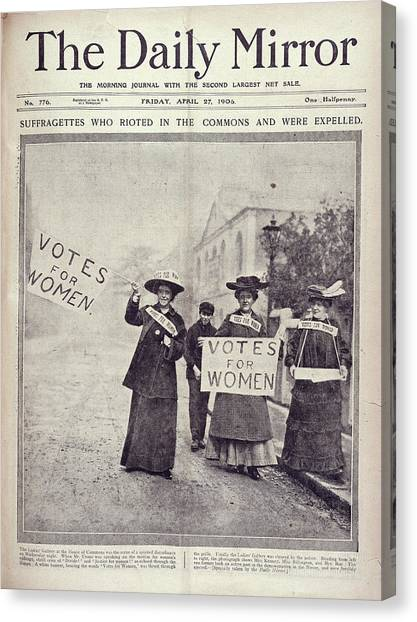 Womens Rights Canvas Print - Suffragettes by British Library
