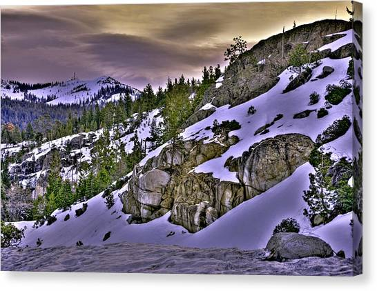 Canvas Print featuring the photograph Sugar Bowl Hillside by William Havle