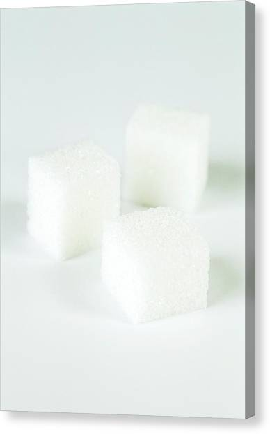 Sugar Cubes Canvas Print by Gustoimages/science Photo Library