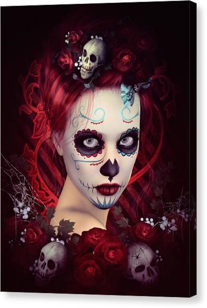 Sugar Doll Red Canvas Print