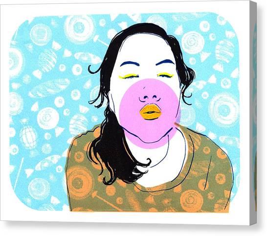 Sugar Lips Canvas Print by Vanessa Baladad