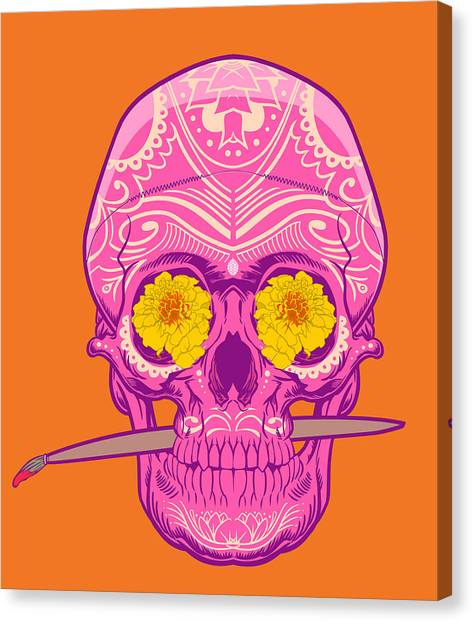 Sugar Skull 2 Canvas Print