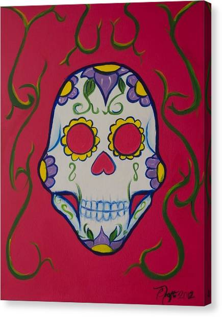 Sugar Skull Canvas Print by Beatriz Topete