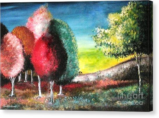 Sugar Trees Canvas Print by Roni Ruth Palmer