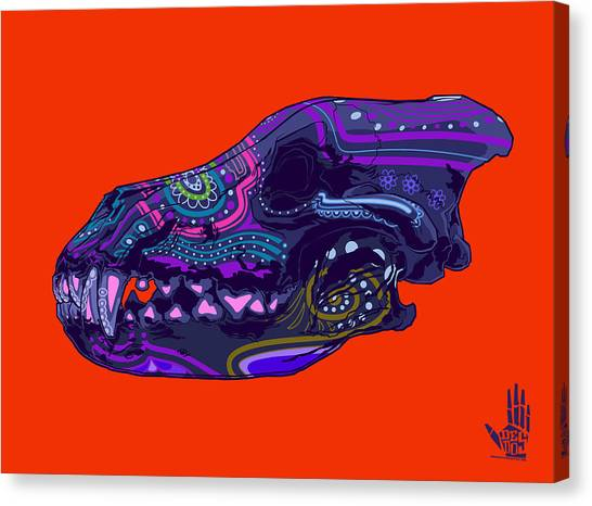 Folk Art Canvas Print - Sugar Wolf by Nelson Dedos Garcia