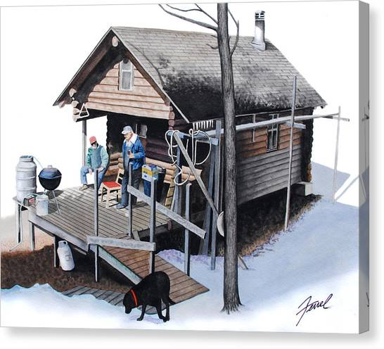Sugarbush Cabin Canvas Print