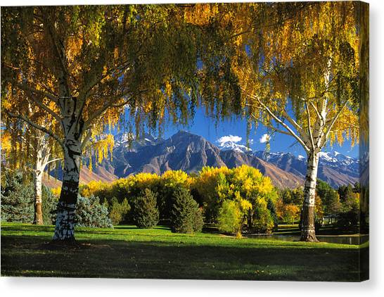 Sugarhouse Park Salt Lake City Ut Canvas Print