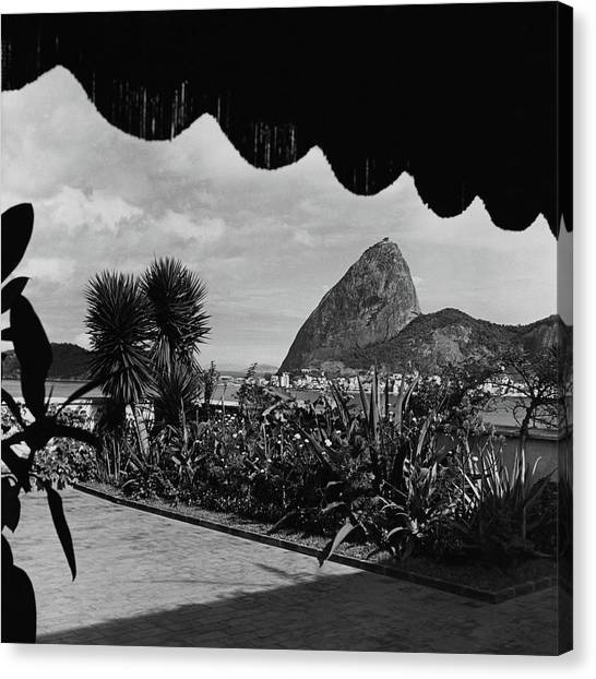 Sugarloaf Mountain Seen From The Patio At Carlos Canvas Print