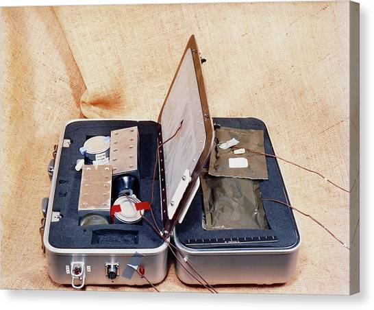 Space Suit Canvas Print - Suitcase Cooker For Use On The Space Shuttle by Nasa/science Photo Library