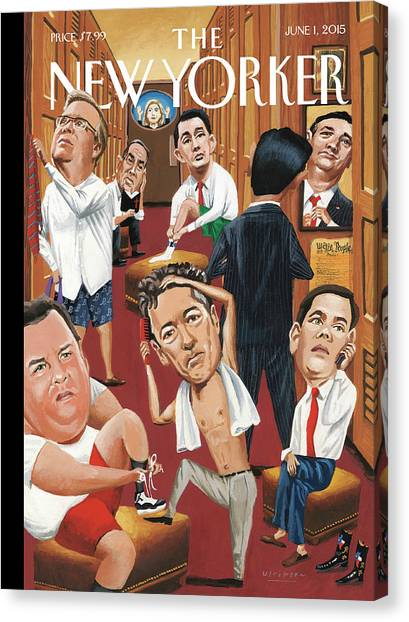 Republican Politicians Canvas Print - Suiting by Mark Ulriksen