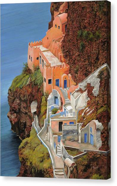 Greek Canvas Print - sul mare Greco by Guido Borelli