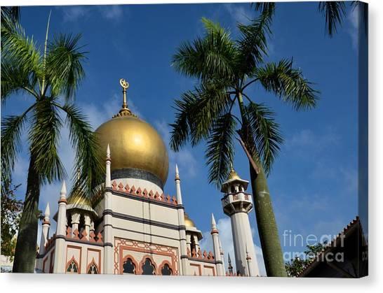 Sultan Masjid Mosque Singapore Canvas Print